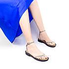 Босоножки бежевые женские 36-41 Woman's heel кожаные с тонким элегантным ремешком, фото 3
