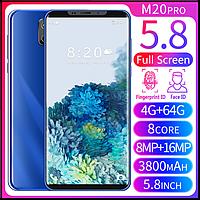 Смартфон M20pro синий  5,8-дюймовый  экраном. 4'64GB, фото 1