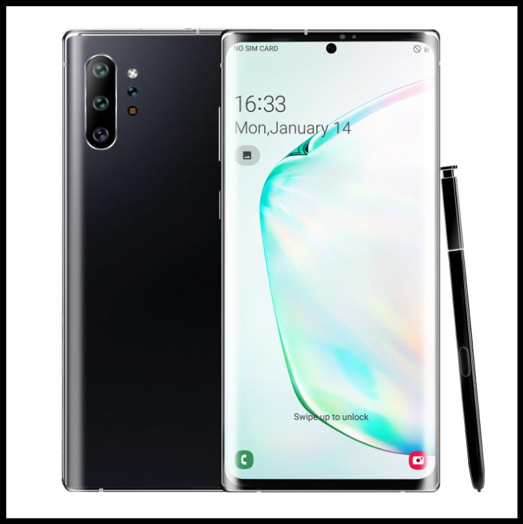 Смартфон Note 20  чёрный на Android 9,1с  6,8-дюймовый  экраном. 8'256GB
