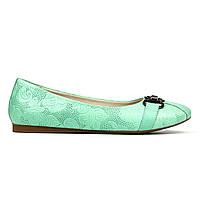 Балетки Woman's heel 37 бирюзовые (О-540), фото 1