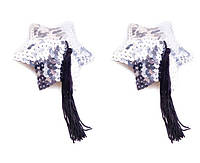 Пэстисы Silver Star Shape Sequin Pasties 8 см.