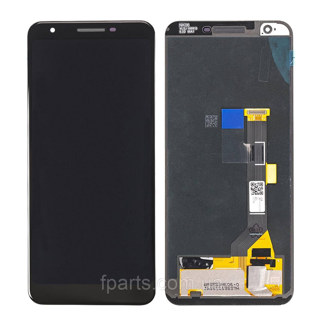 Дисплей Google Pixel 3A з тачскріном, Black (Original)
