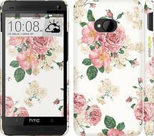 "Чехол на HTC One M7 цветочные обои v1 ""2293c-36"""