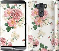 """Чехол на LG G3 D855 цветочные обои v1 """"2293c-47"""""""