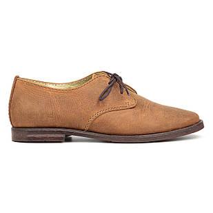 Туфли женские кожаные 36 размер Woman's heel коричневые на шнуровке