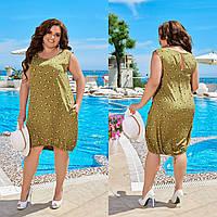 Женское летнее красивое модное платье больших размеров 50-52-54