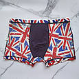 Трусы мужские шелковые флаг Британии размер 52, фото 4