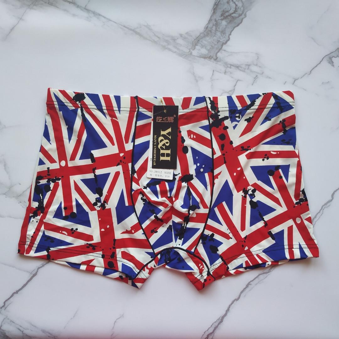 Трусы мужские шелковые флаг Британии размер 52