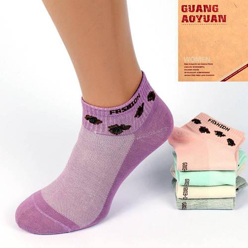 Носки женские короткие с сеткой Шугуан В2560-12-1. Упаковка 10 пар. Размер 36-40