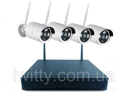 Беспроводной комплект видео-наблюдения WiFi Full KIT W04-200 (4 шт), фото 2