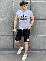 Мужской комплект Adidas футболка + шорты. Стильный костюм для мужчин. , фото 1