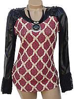 Красивый женский свитер с подвеской