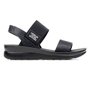 Босоножки из экокожи высокого качества 38-41 Woman's heel черные с открытым носком