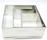 Форма для оформления блюд квадрат 3 шт