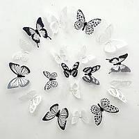 Інтер'єрні наклейки 3D Метелики, набір 18 шт.