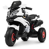 Детский мотоцикл на надувных колесах M 4188AL-1 белый, фото 1