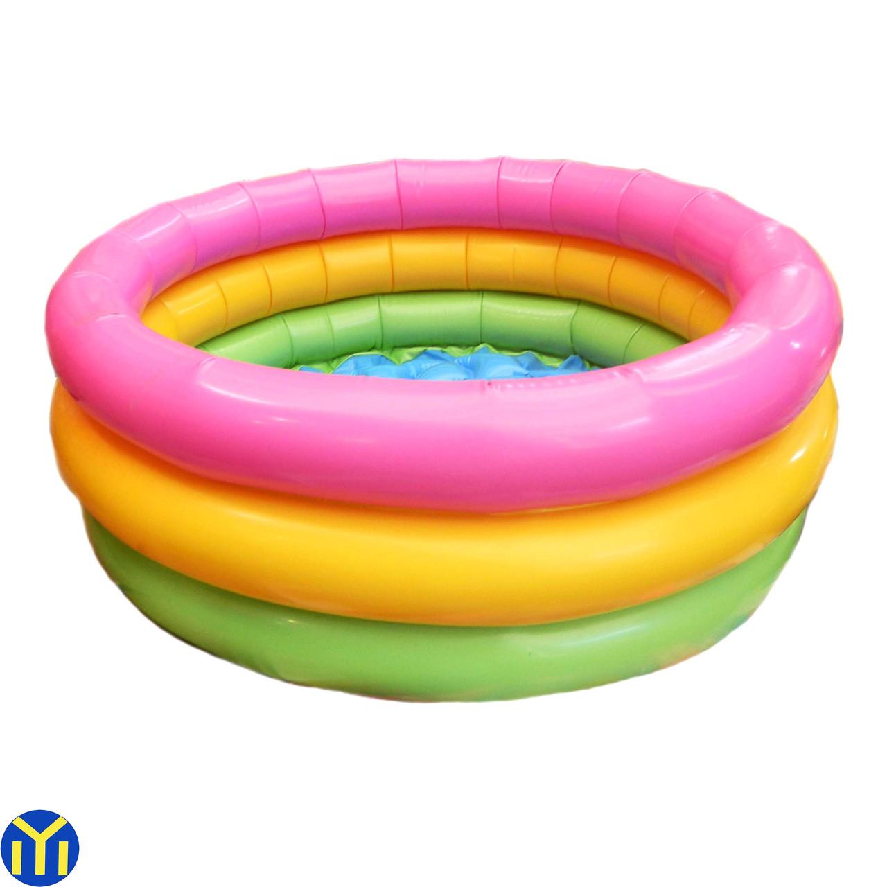 Детский надувной бассейн Радуга 65х35 см