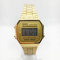 Часы мужские наручные электронные CASIO ОРИГИНАЛ (Касио), золотистые ( код:  )
