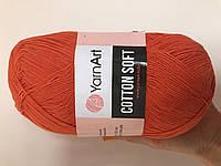Турецкая летняя  пряжа для  вязания YarnArt  Cotton Soft (котон софт) тонкий полухлопок - 85 оранж