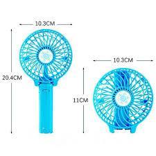 Ручной вентилятор на подставке fan 2  (складная ручка)