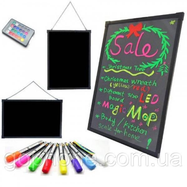 Рекламная светящаяся LED доска Fluorescent Board 60х80