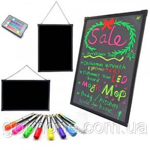Рекламная светящаяся LED доска Fluorescent Board 60х80, фото 2