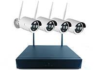 Комплект видео-наблюдения беспроводной WiFi Full KIT W04-200 (4 шт)