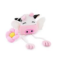 Підхват для штор м'яка іграшка на гумці корівка 20х9х4 см рожева (60204.001)