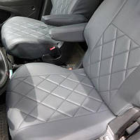 Чехлы на сиденья ВАЗ 2107 1982-2014 из Экокожи (Elegant), полный комплект (5 мест)
