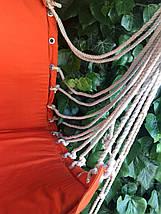 Гамак подвесной сидячий, до 100 кг, х/б, цвет бежевый, фото 3