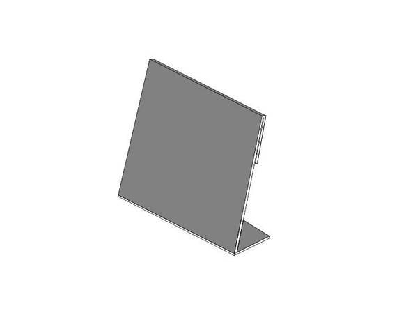 Ценник L-образный 120 x 67 x 1.8 мм., фото 2