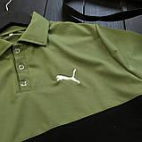 Мужской летний комплект Puma (шорты, тениска), шорты Puma, поло Puma (black/khaki), фото 3