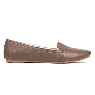 Туфли женские на низком ходу 38 размер Woman's heel коричневые натуральная кожа