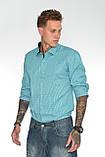 Мужская рубашка Gelix 1142-2 в клетку зеленая, фото 4