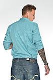 Мужская рубашка Gelix 1142-2 в клетку зеленая, фото 5