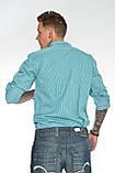 Мужская рубашка Gelix 1142-2 в клетку зеленая, фото 7