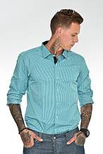 Мужская рубашка Gelix 1142-2 в клетку зеленая