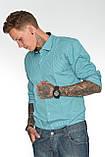 Мужская рубашка Gelix 1142-2 в клетку зеленая, фото 8