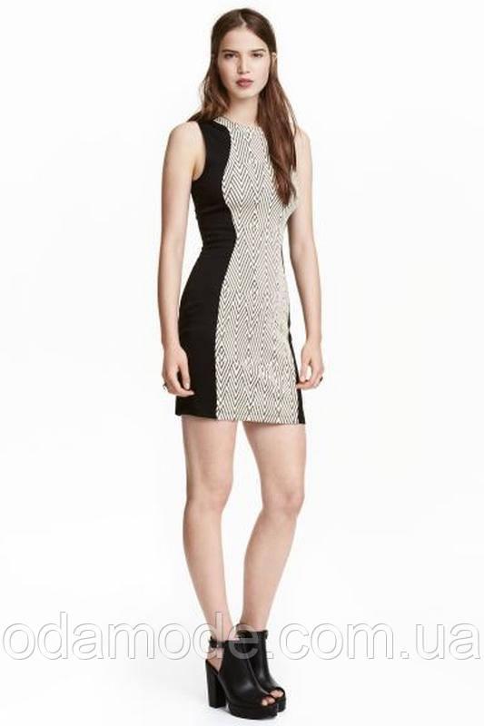 Женское платье H&M черное/белое