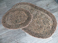 Набор ковриков для ванной комнаты и туалета 60Х100. Хлопок. (Турция) OL001-2