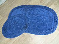 Набор ковриков для ванной комнаты и туалета 60Х100. Хлопок. (Турция) OL001-3
