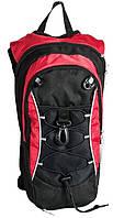 Велорюкзак спортивный Paso17-9542/R черно-красный