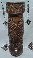 Різьблена ваза з дерева ручної роботи