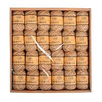 Набор из 24 декоративных джутовых шнуров FRE ниток, бечевка 10м, коричневые
