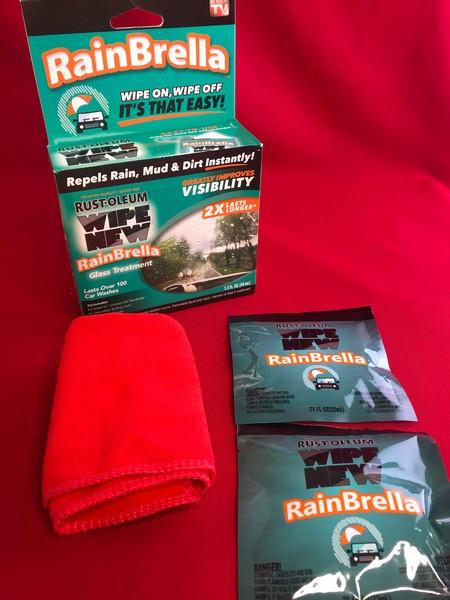 Рідина Rain Brella для захисту скла від води і бруду