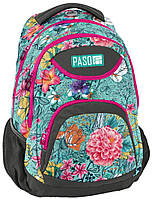 Женский рюкзак с цветами Paso 28L, 18-2708EW серый