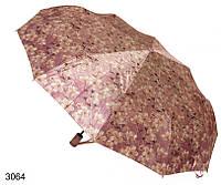 Зонт женский автомат сиреневый с цветами, фото 1