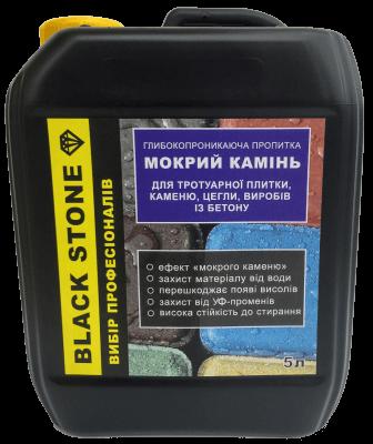 Защитная пропитка Black Stone мокрый камень (5л)  с тонировочным эффектом