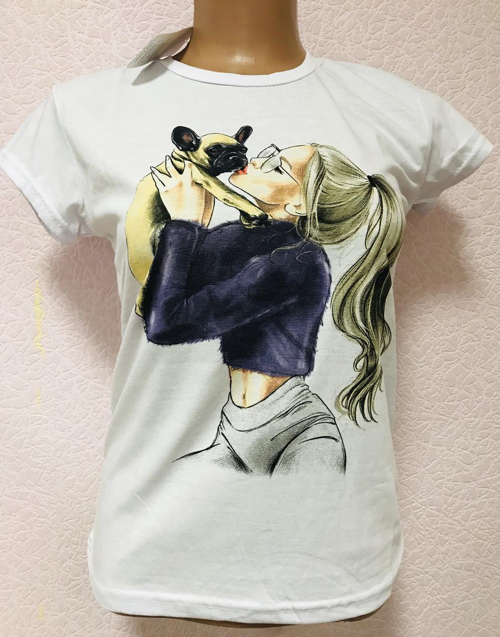 Жіночі футболки бавовна Туреччина розміри S-XL (42-48) ростовка