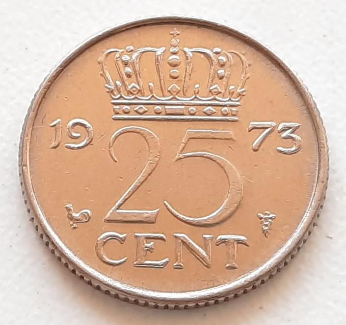 Нідерланди 25 центів 1973